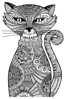 coloring-adult-cat