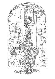 coloring-adult-rapunzel