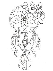 coloring-dreamcatcher-tattoo-designs